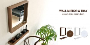 WALL MIRROR & TRAY (セット)