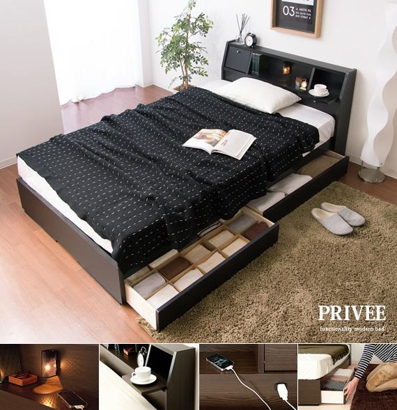ベッドルームを快適でくつろげる空間にする。機能性が魅力のシンプルモダンベッド