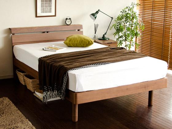 ベッド すのこベッド walto〔ウォルト〕 セミダブルサイズ フレーム単体販売 ダークブラウン     ベッドフレームのみの販売となっております。 マットレスは付いておりません。