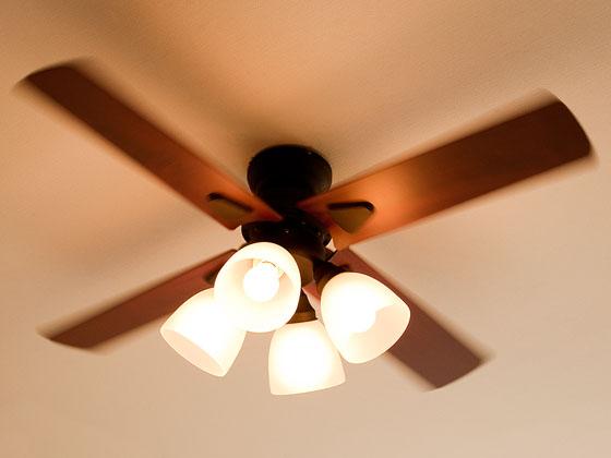 シーリングファンライト 天井照明 サーキュレーター windouble 4灯〔ウィンダブル4灯〕 ホワイト ブラック