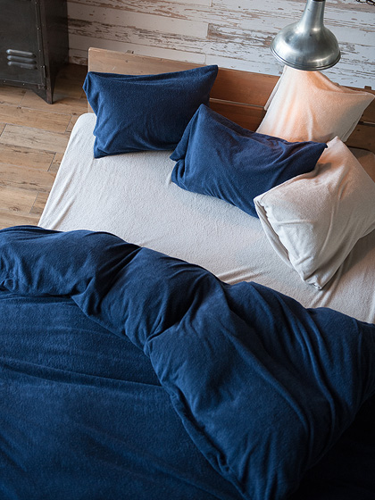 タオルケット 北欧 Airy pile(エアリーパイル) 枕カバー Lサイズ ミルク(ホワイト)、 ストーン(グレー)、パウダー ピンク、ネイビー、クミン