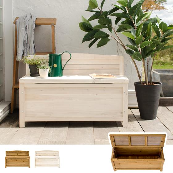 ベンチ 収納 収納庫 ストッカー 天然木 木製 天然木ボックスベンチストッカー Cecilia〔セシリア〕 ブラウンホワイト
