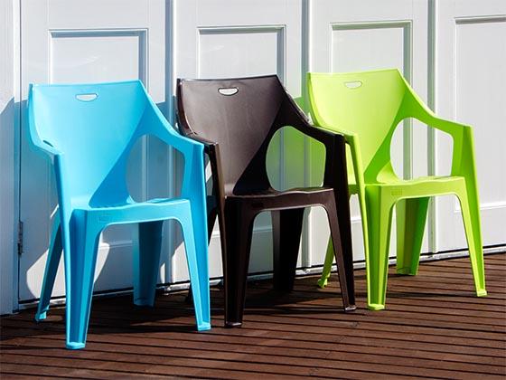 ガーデンチェア 屋外チェア カフェ スタッキング イタリアンデザイン PCチェア Angelo〔アンジェロ〕   チェア1脚単体販売となっております。