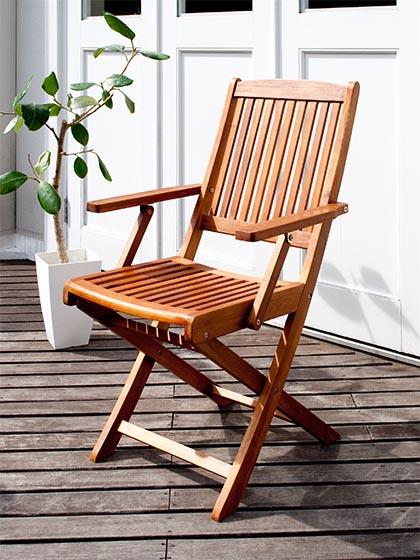 木製ガーデンチェア カフェ カフェチェア Cassy〔カッシー〕2脚セット