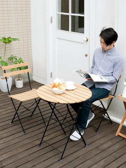 スチールカフェテーブル