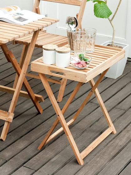 木製ガーデンテーブル カフェ Folding
