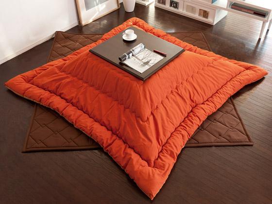 こたつ掛け布団  Tsumugi  〔ツムギ〕 【200×240cm】 長方形 パープル ブラウン グリーン オレンジ