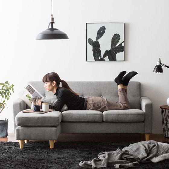 当店1番人気のシンプルデザインL字ソファ rond(ロンド)イメージ画像2
