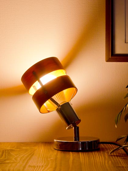 スタンドライト 間接照明 照明 テーブル ライト 北欧 スチール 天然木 フロアライト RETTO〔レット〕ブラウン ナチュラル
