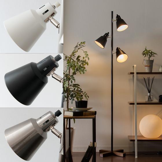 3灯スタンドライト スタンドライト フロアスタンド 照明 間接照明 manis〔マニス〕 ライト 北欧 スチール 天然木