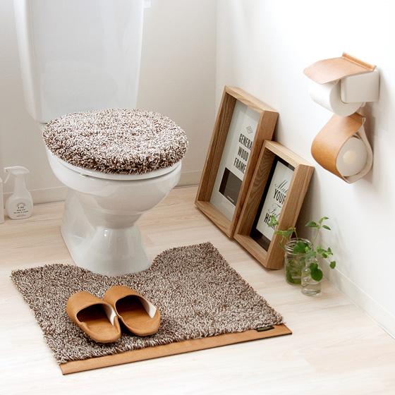 トイレマット カジュアル ナチュラル 丸洗い トイレタリーワードローブシリーズ  デニム レザー ベージュ グリーン ブラウン