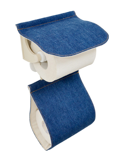 トイレットペーパーホルダー デニム カジュアル ナチュラル 丸洗い トイレタリーワードローブシリーズ   デニム