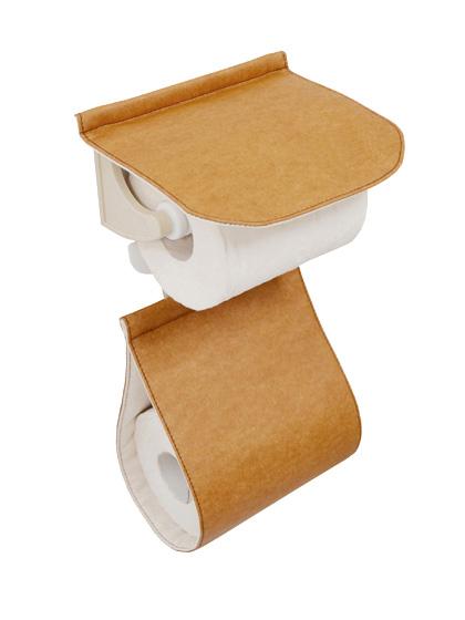 トイレットペーパーホルダーカバー カジュアル ナチュラル 丸洗い トイレタリーワードローブシリーズ   レザー