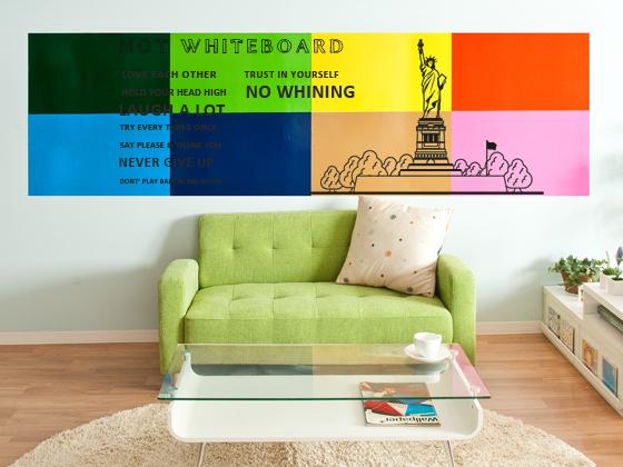 ウォールステッカー インテリアシール ホワイトボード WALL STICKERS Not Whiteboard〔ノットホワイトボード〕 レッド ブルー グレー ブラウン グリーン