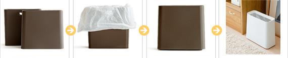 ゴミ袋も3ステップで簡単セット