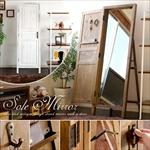 扉付きウッドスタンドミラー Sole Mirror(ソーレミラー)