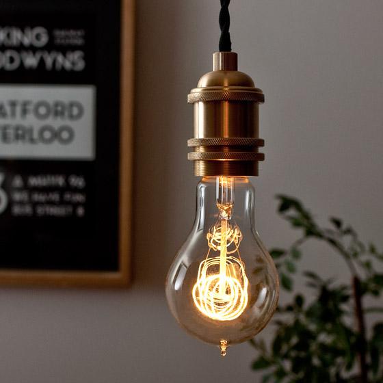 電球 カーボン エジソンランプ edison bulb〔エジソンバルブ〕 A-シェイプ L 電球色 1個販売