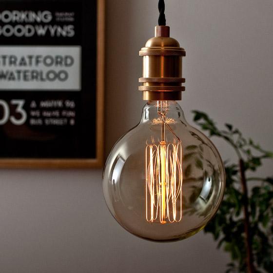 電球 カーボン エジソンランプ edison bulb〔エジソンバルブ〕 グローブ L 電球色 1個販売
