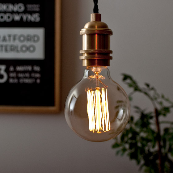 電球 カーボン エジソンランプ edison bulb〔エジソンバルブ〕グローブ M 電球色 1個販売