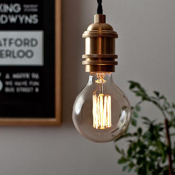 電球 カーボン エジソンランプ edison bulb〔エジソンバルブ〕 グローブ S 電球色 1個販売