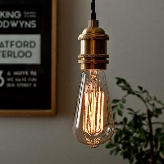 電球 カーボン エジソンランプ edison bulb〔エジソンバルブ〕シグネイチャー L 電球色 1個販売