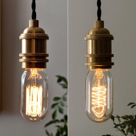 電球 カーボン エジソンランプ edison bulb〔エジソンバルブ〕 チューブラー スクウォーレルケージ&スパイラル 電球色 1個販売