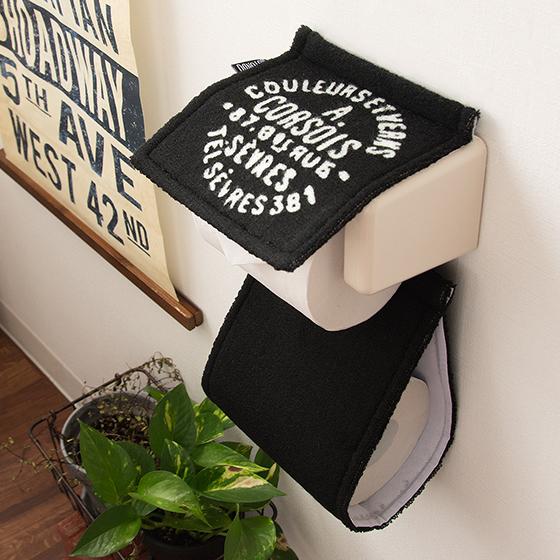 トイレ サニタリー トイレサニタリー ヴィンテージ 西海岸 丸洗い ROTONDO(ロトンド)ペーパーホルダーカバー 単体販売 ブラック