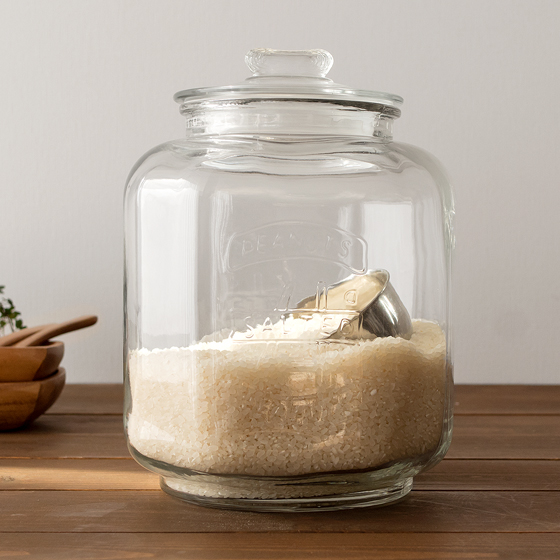 米びつ 米櫃 ガラス ライスストッカ