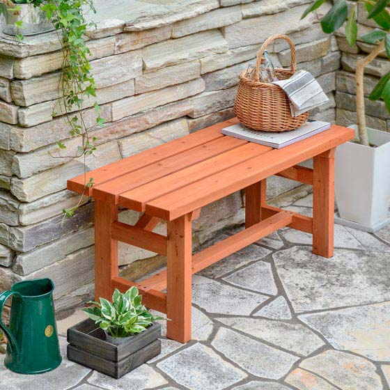 ガーデン ベンチ パークベンチ テラス バルコニー 木製 庭 90cm 木製ガーデンベンチ Gran(グラン)
