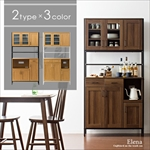 選べるキッチンボード Elena(エレナ)ガラス扉タイプ|食器棚