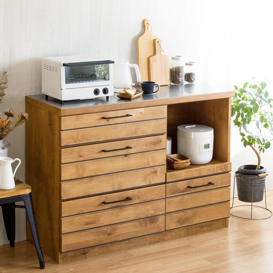 天然木 無垢材 キッチンカウンター