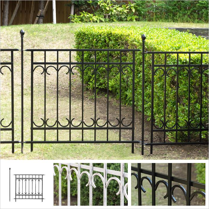ガーデンフェンス フェンス連結セット(フェンス1枚、ポスト1本) アイアンフェンス トレリス ピケフェンス PARK AVENUE(パークアヴェニュー) フェンス連結セット