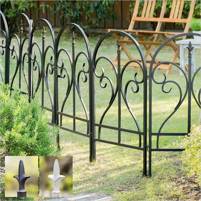 ガーデンフェンス フェンス(1枚) アイアンフェンス トレリス Finial(フィニアル)  フェンス単品販売 ブラック ホワイト