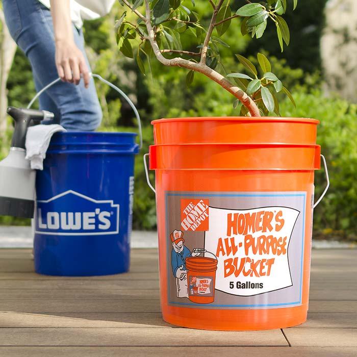 バケツ 1.9L アメリカンポップ 収納ケース 小物入れ ボックス ゴミ箱 洗濯カゴ 多目的デザインバケツ USA BUCKET〔ユーエスエーバケット〕 ブルー オレンジ