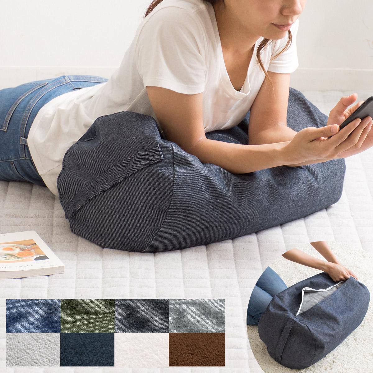 布団収納袋 収納カバー おしゃれ デニム 人気 クッション 大きい クッションカバー 長方形 ソファになる布団収納カバー Deco(デコ) 毛布用単体販売