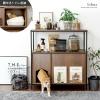 猫用トイレ収納ラック Selma(セルマ)ロータイプ|ペット用品