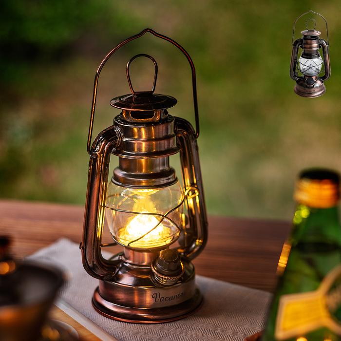 ライト 照明 ガーデン ランタン アンティーク LEDライト Vacances〔バカンス〕 LEDランタン Premium ブロンズ シャビー 西海岸