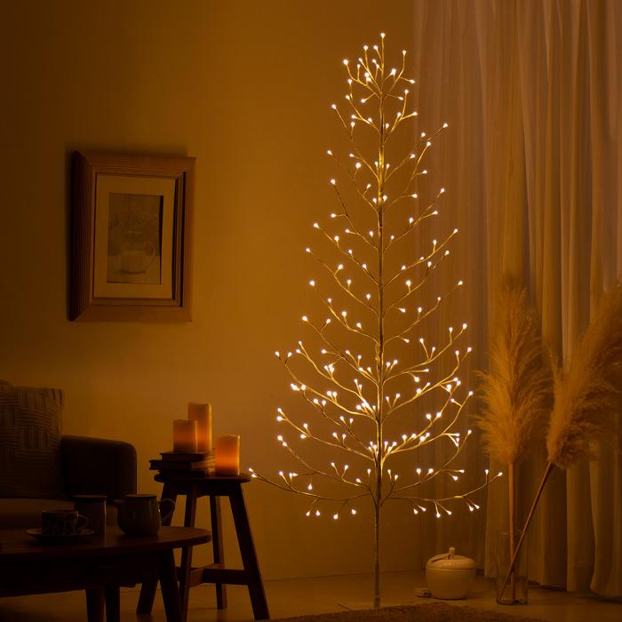 [高さ180cm] LEDブランチツリー elise〔エリーゼ〕 クリスマスツリー ブランチツリー LED ホワイト