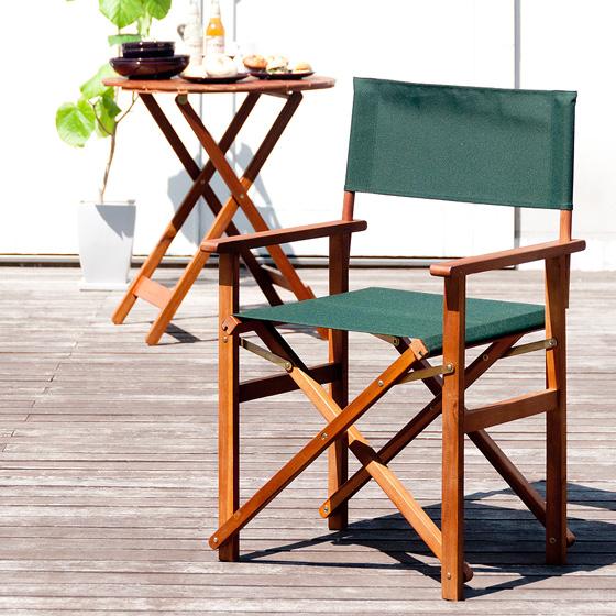カフェ デッキチェア ガーデン director chair 〔ディレクターチェア〕