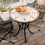 mosaic heartful table