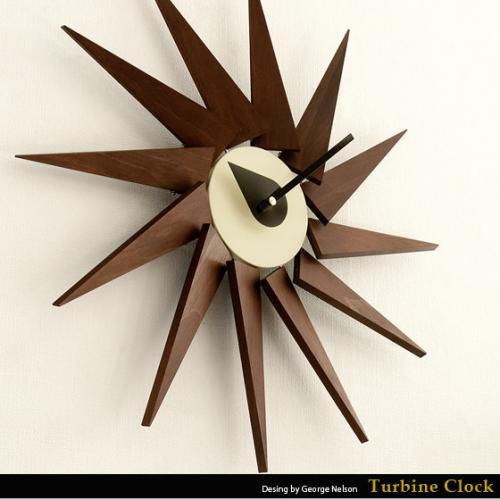 北欧 掛け時計ジョージ・ネルソンTurbine Clock 〔タービンクロック〕
