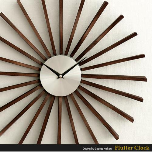 北欧 掛け時計レトロFlutter Clock 〔フラッタークロック〕
