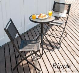ガーデンテーブルセット カフェ ガーデンテーブル3点セット Ripple〔リップル〕