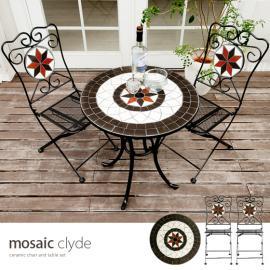 ガーデンテーブルセット カフェ mosaic clyde table 3点セット〔モザイククライドテーブル3点セット〕
