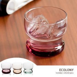 ガラスコップ、ガラスグラス、ガラス KINTO、キントー ロックグラス ECOLONY〔エコロニー〕250ml パープル グリーン アンバー
