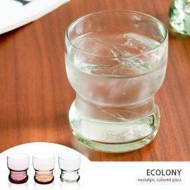 ガラスコップ、ガラスグラス、ガラス KINTO、キントー ウォーターグラス ECOLONY〔エコロニー〕310ml パープル グリーン アンバー