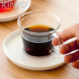 ガラスコップ、ガラスグラス、ソーサー、セット KINTO、キントー CAST 〔キャスト〕 コーヒーカップ&ソーサーセット