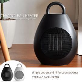 ヒーター、セラミックファン PTC熱源、暖房器具 セラミックファンヒーター ブラック ホワイト