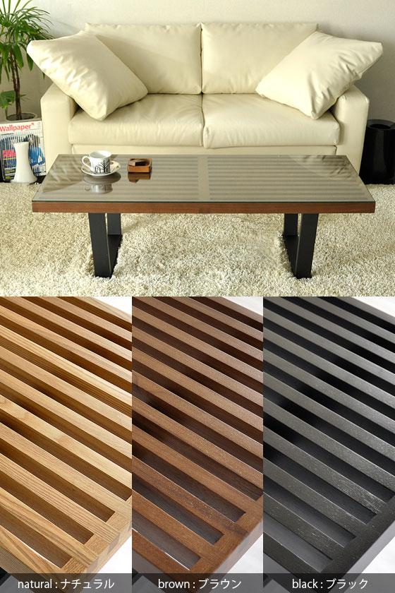 北欧 リビング テーブルNelson Bench 〔ネルソンベンチ〕Sサイズ ガラスあり