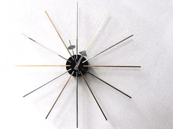 掛け時計 壁掛け デザイナーズクロック、ミッドセンチュリー Georeg Nelson Clock STAR CLOCK 〔ジョージネルソンクロック スタークロック〕